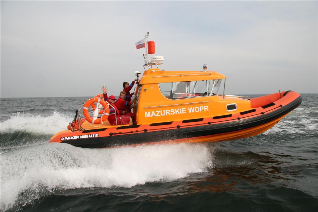 Water Ambulance for the Mazurian Water Rescue | Parker Ribs Boat